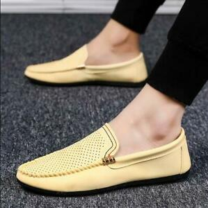 Men-039-s-Smart-Casual-Loafers-Designer-Slip-on-Party-Driving-PU-Leather-Boat-Shoes