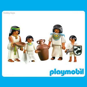 Playmobil-histoire-7386-egyptien-famille-100-COMPLET-Tres-bon-etat