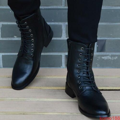 Chic Homme Oxford En Cuir Bout Pointu Bottines Knight Punk Motor Biker Chaussures