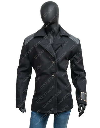 Apex Legends Crypto Leather Jacket Hired Gun Peacoat Cosplay Costume Jacket
