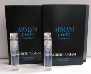 Armani Code Colonia Pour Homme 2 x 1.2ml Eau de Toilette Spray New ... 3936ac79152c