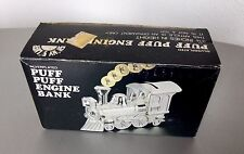 VINTAGE#TRAIN SILVERPLATE GODINGER PUFF PUFF ENGINE BANK 3 1/4""