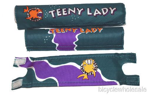 Piranha Teeny Lady 3 Pièce BMX pad set//vert de Coussin Ensemble Neuf!