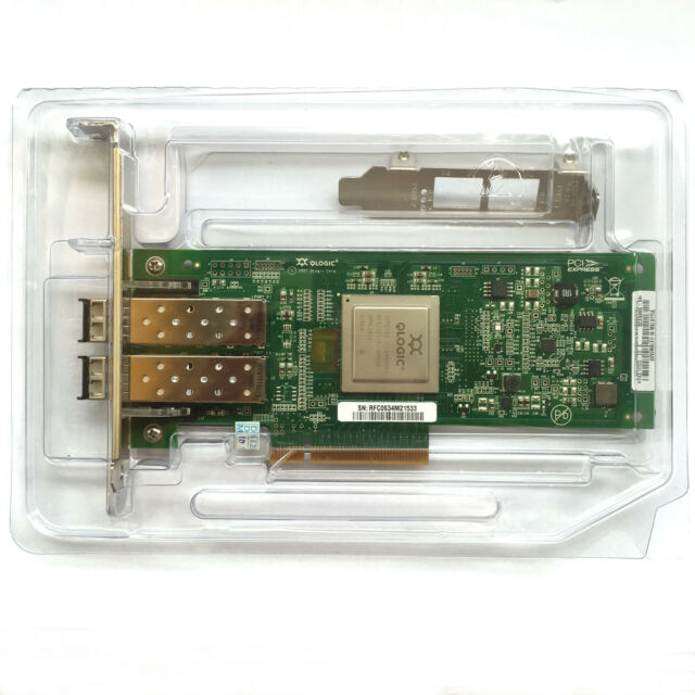 HP AJ764A AJ764-63002 QLogic QLE2562-HP PCIe 8GB FC HBA 489191-001 2x SFP