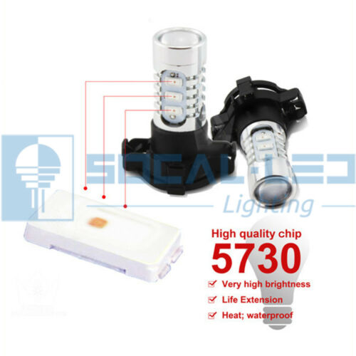 2x Pink H10 9145 LED Bulbs 15W SMD 5730 High Bright Fog Light DRL Projector