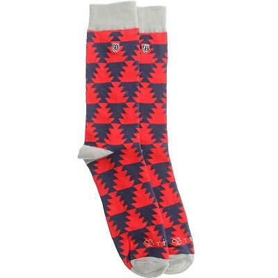 $11 Brixton Morocco Sock red navy