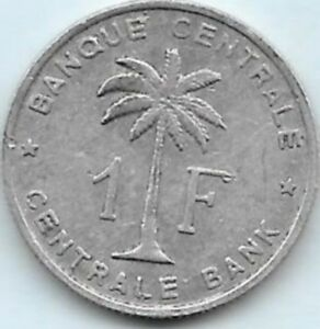 1 Franc Congo-belge 1960 Beau Travail