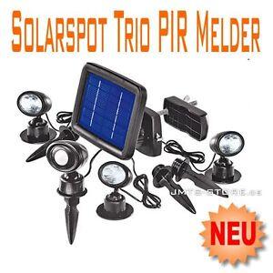 led pir solarspot solarleuchte strahler solarstrahler solar spot lampe garten ebay