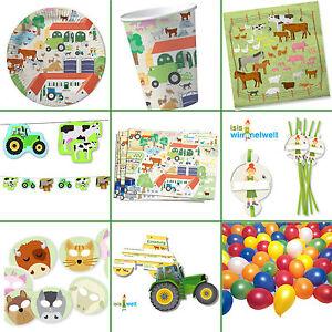 d3ddaba0533e97 BAUERNHOF, FARM & TIERE * Alles zum Kindergeburtstag: Geschirr Deko ...