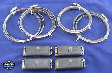 Ford Lincoln Mercury TPMS Tire Pressure Sensors Black Banded Bands- Set of 4