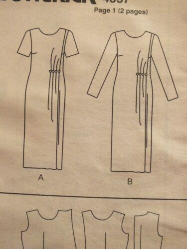 OOP BUTTERICK 4557 MS//Wmns Mock Wrap Dress PATTERN 6-8-10//12-14-16//18-20-22 UC
