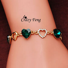 New charm crystal chain heart bracelet for Women Accessories