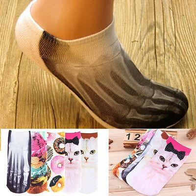 Men Women Multiple Colors 3D Printed Cute Unisex Cotton Cartoon Socks New FE