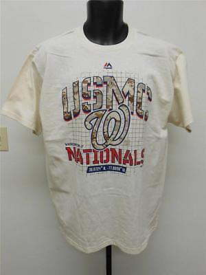 """Sport Fanartikel Neu Washington Nationals """" Usmc """" Damen L Gross Majestic Shirt Wir Haben Lob Von Kunden Gewonnen"""