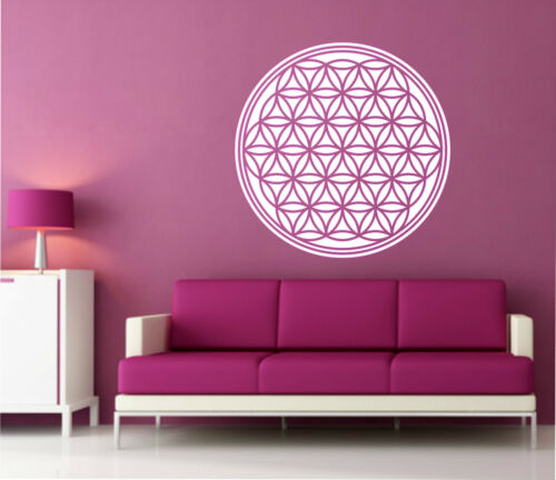 Wall Tattoo Flower of Life Wall Sticker Spiritual Adhesive Flower of Life