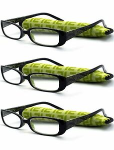 Reading-Glasses-Unisex-3-Pairs-Pack-Spring-Hinge-Classic-Lightweight-Readers