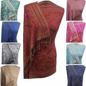 Designer-Paisley-Shawl-Scarf-Wrap-Pashmina-Warm-Soft-SilkyTouch-Gift