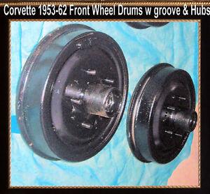 Corvette-1954-1956-1957-1958-1959-1960-1962-Brake-Drum-Front-Drums-w-Wheel-Hubs