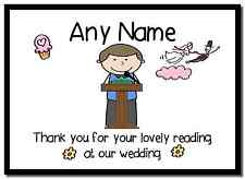 Thank You For Doing A Reading At Our Wedding Boy  Personalised Placemat