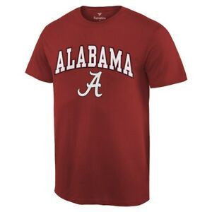 Alabama-Football-Crimson-Rouleau-Maree-Campus-2018-S-T-shirt-a-manches-courtes-Champs