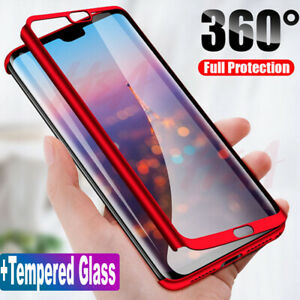 separation shoes a2d84 e7268 360 Full Cover Case + Tempered Glass For Huawei Honor 8X 7X 7S 7A 9 ...