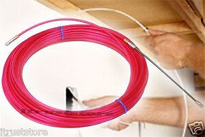 50ft hand cable electrical wire fish fishing tape tool for Fishing electrical wire