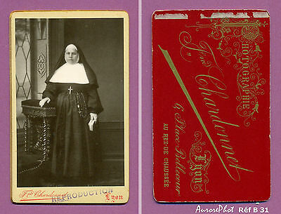 Betrouwbare Cdv Nonne Religieuse En Pied À CÔtÉ D'un Prie Dieu Missel Dans La Main Réf B31 Goedkope Verkoop