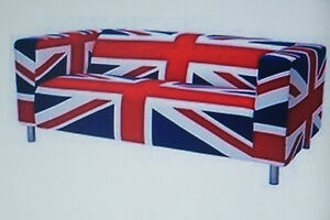 New-Ikea-Klippan-two-seat-sofa-COVER-ONLY-UNION-JACK-Degerbyn
