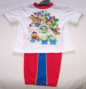 5bfba33fd Disney Pixar Toy Story Gang Boys White Red Printed Pyjama Set Size 5 ...
