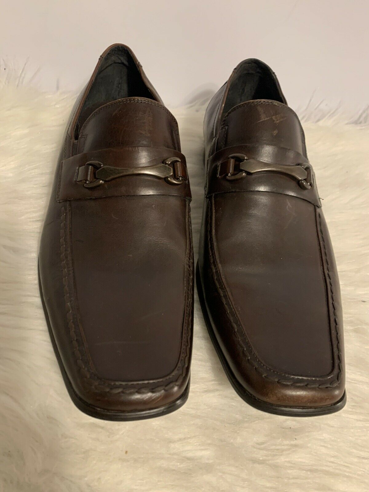 Kenneth Cole Brown Leather Slip On Loafers Men's Size 10.5 M