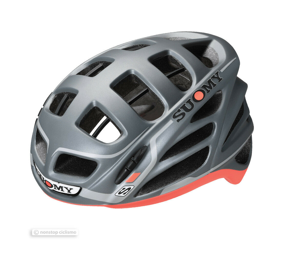 Suomy  GUN WIND S-Line Road Ccycling Helmet   ANTHRACITE MATTE RED  save 60% discount and fast shipping worldwide
