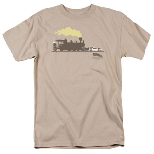 Back to the Future III TRAIN PUSHING THE DELOREAN Licensed T-Shirt All Sizes