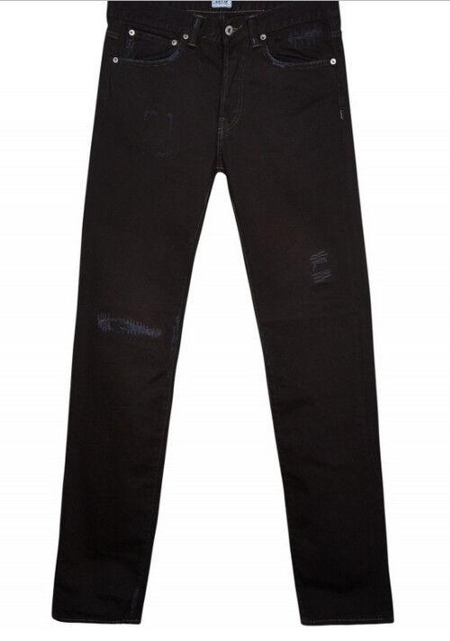 Jeans EDWIN Herren ed 80 slim taperot (tief-Schaden schwarz) W33 L34 wert  | Reichhaltiges Design  | Vorzugspreis  | Verrückter Preis