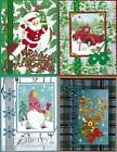 Handmade half VINTAGE CHRISTMAS CARDS #CV5-Lot of 4