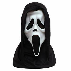 Official-Howling-WHITE-SCREAM-Horror-Mask-amp-Hood-Halloween-Adult-Fancy-Dress