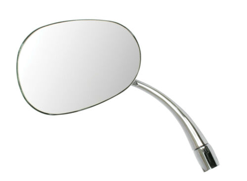 EMPI 98-8581  NEW CHROME OVAL REPLACEMENT MIRROR LEFT 1953-1967 VW BUG BEETLE