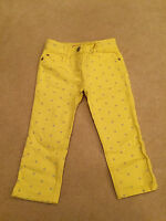 BNIP Mini Boden Girls Yellow Star Print Ankle Skimmer Jeans - 5 Years