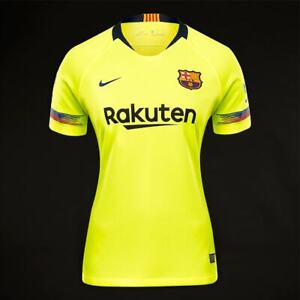 reputable site 2f22f 21239 Details about new nwt neon yellow Nike 2018-2019 Barcelona Women Away  Jersey top - Volt Small