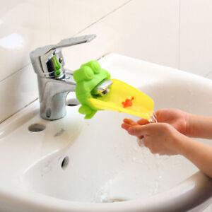 Waschbecken-Wasserhahn-Verlaengerung-Chute-Extender-fuer-Kinder-Haende-Waschen-NEU