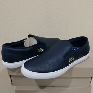 71fbbb8c52627c Details about Lacoste Gazon BL 1 Cam Perforated Leather Slip-On LoaferShoes