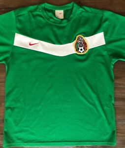 f8fe7dc62 MEXICO SOCCER JERSEY HOME 2007-2008 L NIKE FIFA WORLD CUP 2006