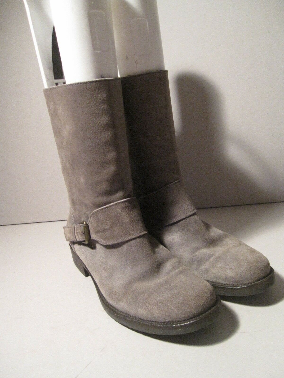 J. Crew 7.5 Braun Grayish Taupe Neutral Suede A+ Mid Calf Buckle Stiefel A+ Suede RDUCED e62fc6