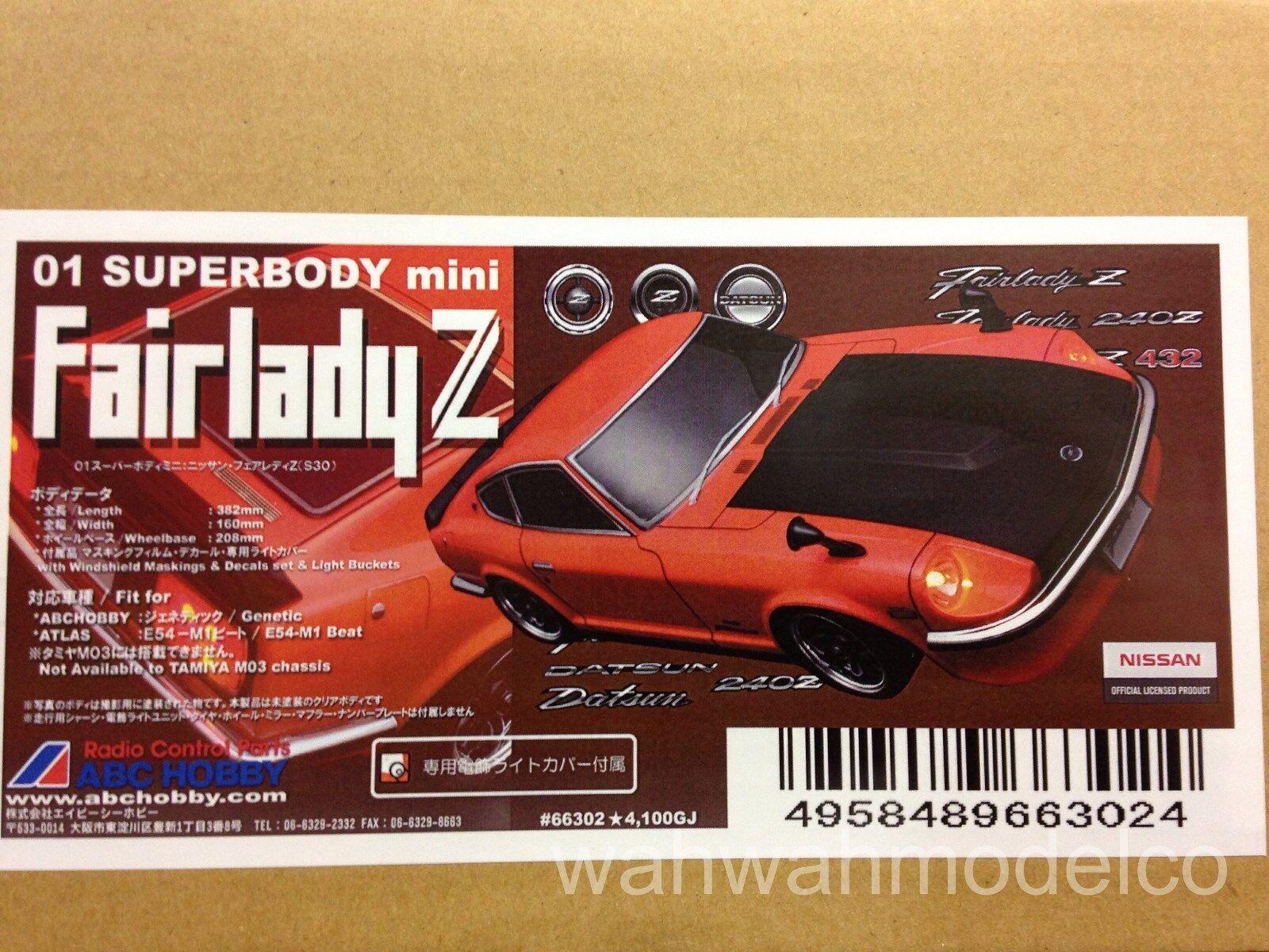 ABC Hobby 66302 1  10 Super Body Mini Fairlady Z Clear Body Set