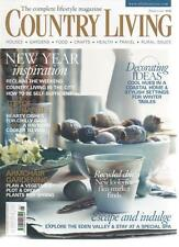 COUNTRY LIVING MAGAZINE January 2009 New Year Inspiration AL