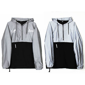 code promo 1013b cc107 Details about Agora Reflective Pullover Jacket 3M Windbreaker palace shield  flash NEW