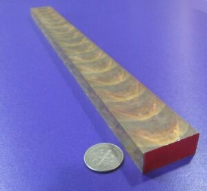 """954 Bronze Oversize Flat Bar  3//4/"""" Thick x 2.0/"""" Wide x 6.0/""""  Length"""