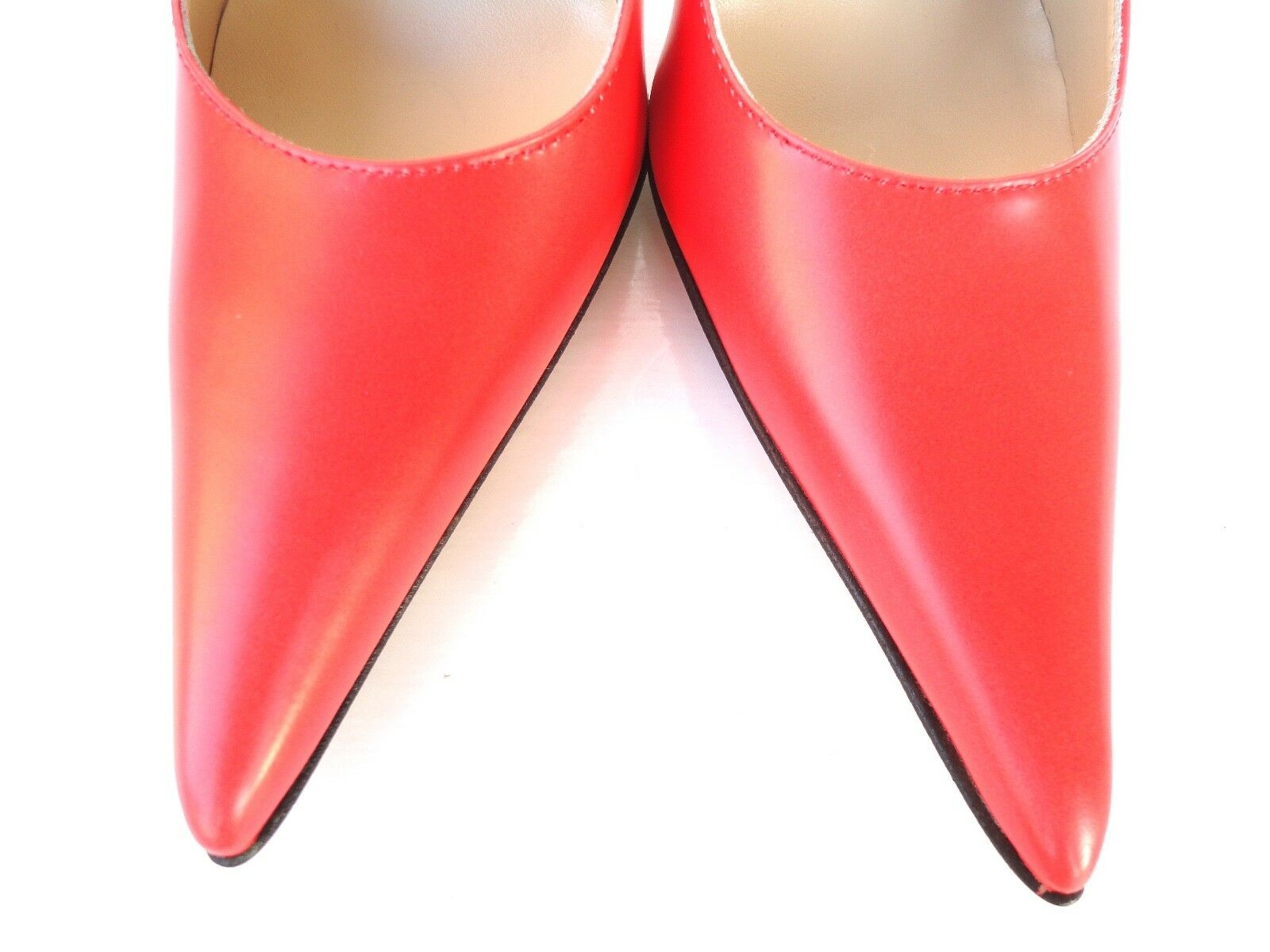 GIOHEL DECOLTE ITALY HIGH HEELS POINTY TOE PUMPS SCHUHE LEATHER DECOLTE GIOHEL ROT ROT ROSSO 38 7583ed