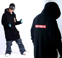 December Long Tall Hoodie Ski Snowboard-basic Black