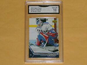 2005-06-UpperDeck-Rookie-Class-Hockey-Card-3-Henrik-Lundqvist-GRADED-10-GEM-MT