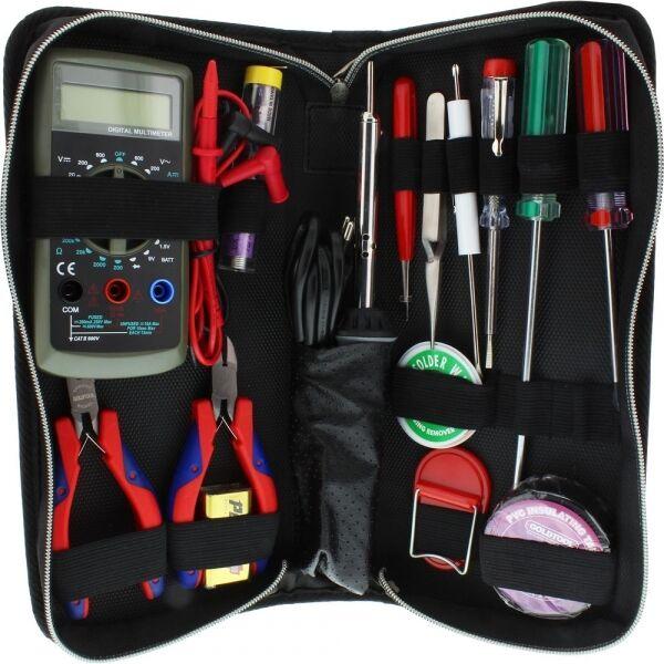 Werkzeug Set mit Lötkolben und Multimeter, 15-teilig